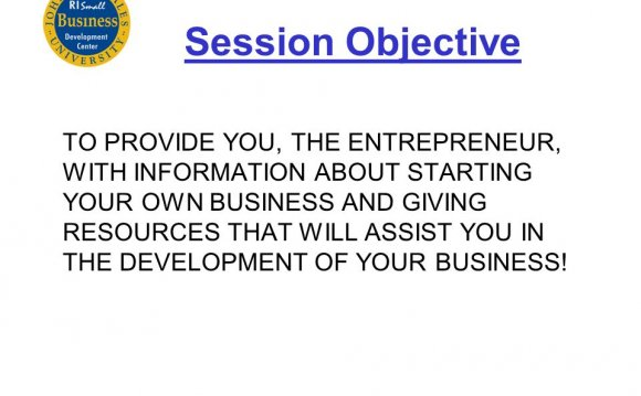 Session Objective TO PROVIDE