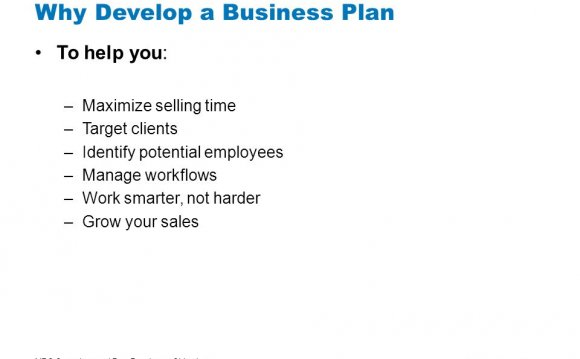Why Develop a Business Plan To