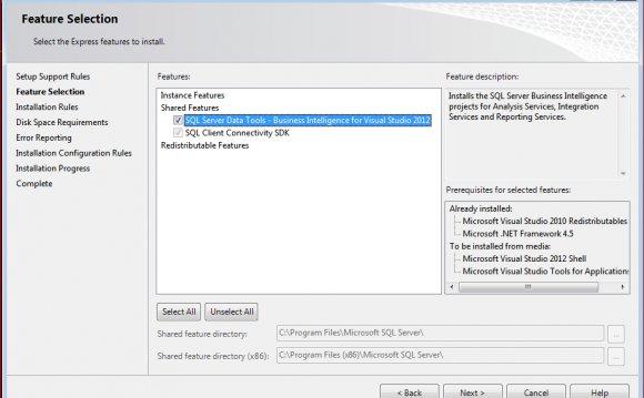 BIDS for SQL Server 2012 Setup