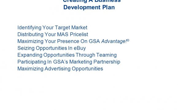 Creating a Business Development plan