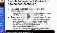 Independent Contractor Agreement for IT Consulting -