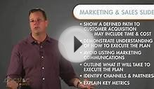 Marketing & Sales Slide - Creating The Killer Business Plan