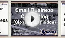 Recap: Small Business Consulting (Glossary Definition