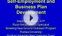 Self-Employment and Business Plan Development
