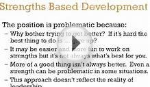 Strengths Based Development - A 3-Minute Crash Course