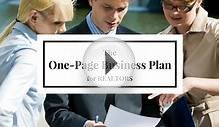 The One Page Real Estate Business Plan